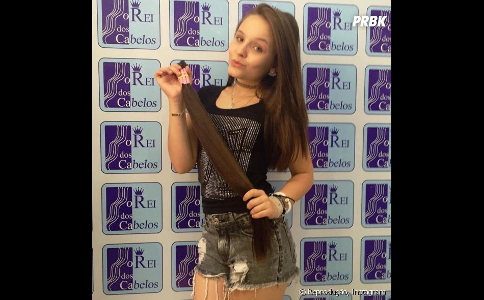 Larissa Manoela vai usar um aplique  bapho na sua festa de 15 anos ... bbb320db05