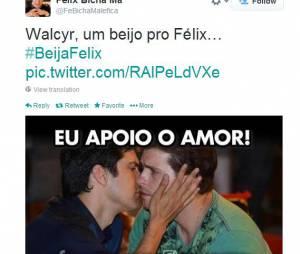 """O perfil cômico """"Félix Bicha Má"""" apoiando a campanha #BeijaFélix"""