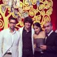 """Camilla Camargo e Osmar Silveira participaram da festa de lançamento da novela """"Em Família"""", que aconteceu no Hotel Copacabana Palace, na noite deste domingo (2)"""