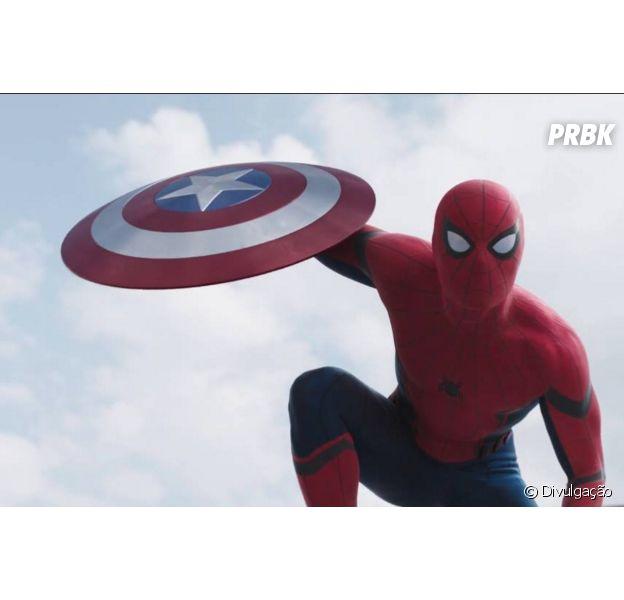 """O novo Homem-Aranha (Tom Holland) da Marvel aparece no novo trailer de """"Capitão América 3"""""""