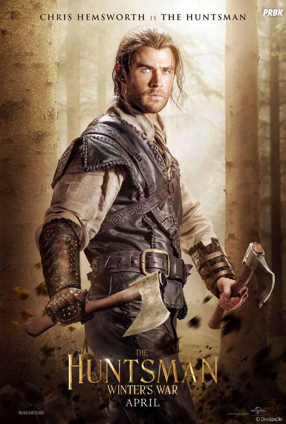 """Em """"O Caçador e a Rainha do Gelo"""", sequência de """"Branca de Neve e O Caçador"""", Chris Hemsworth é o protagonista"""