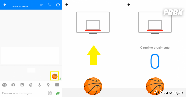 Facebook Messenger para Android e iOS tem jogo de basquete escondido no aplicativo!
