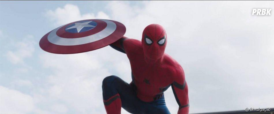 """O novo Homem-Aranha (Tom Holland) da Marvel apareceu no último trailer de """"Capitão América 3"""""""
