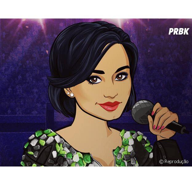 Em seu game para celular, Demi Lovato brilha com sua versão em desenho