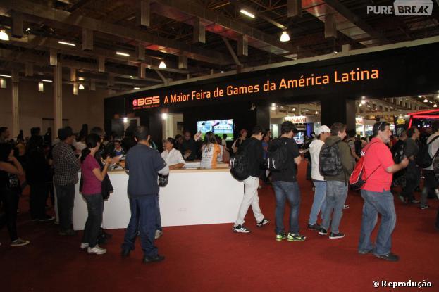 """Portão de entrada da """"Brasil Game Show"""" de 2012"""