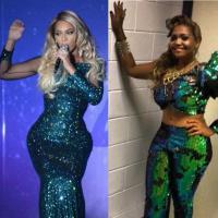 Duelo: Beyoncé ou Gaby Amarantos?! Quem arrasou no look verdinho nada básico?