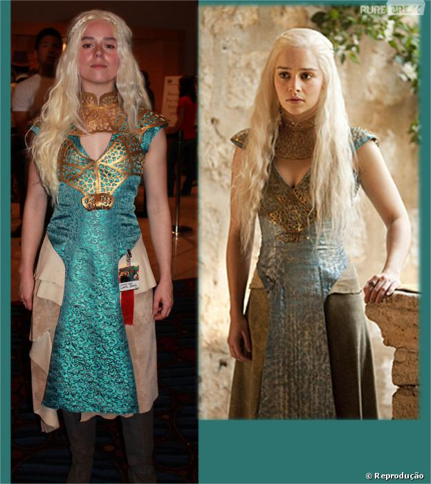 """Quem não quer ser a poderosa Daenerys Targaryen (Emilia Clarke) de """"Game of Thrones""""?"""