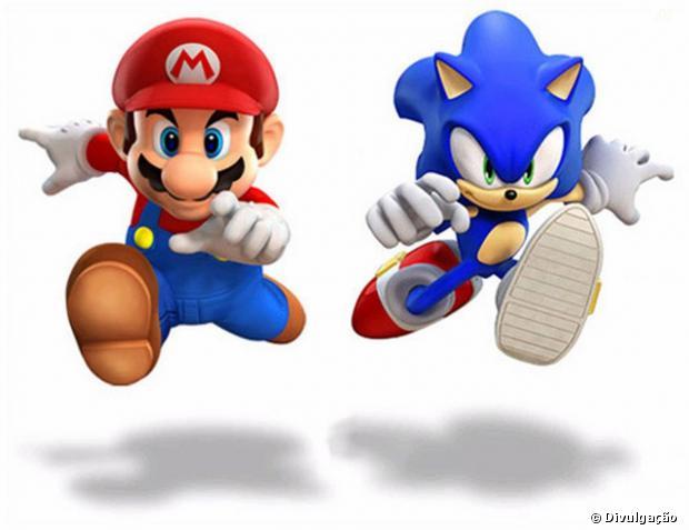 Mario e Sonic eram rivais, mas hoje em dia já estrelam até jogos juntos!