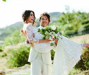 Ian Somerhalder e Nikki Reed se casaram em 26 de abril de 2015