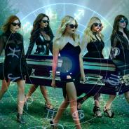 """De """"Pretty Little Liars"""": Aria (Lucy Hale), Spencer, Hanna, Emily e os signos dos personagens"""