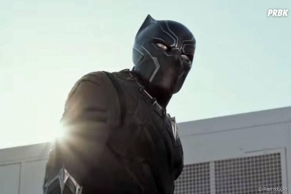 """Cena pós-créditos do Pantera Negra (Chadwick Boseman) de """"Capitão América: Guerra Civil"""" foi filmada no Brasil"""
