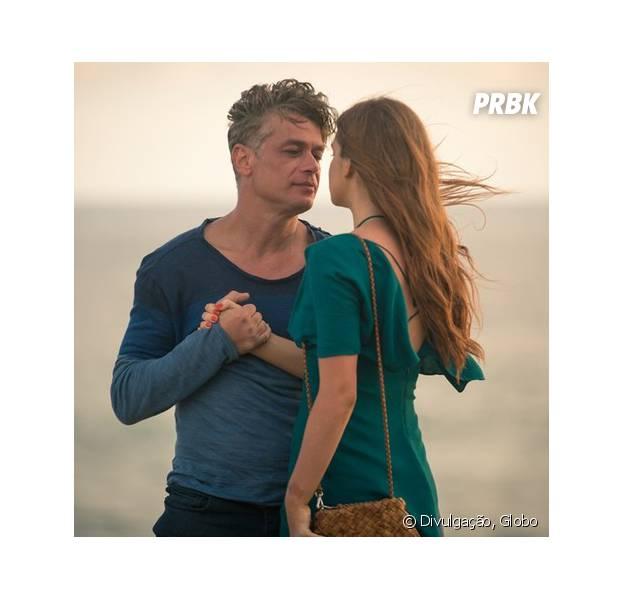 """Em """"Totalmente Demais"""", Eliza (Marina Ruy Barbosa) aceita morar com Arthur (Fábio Assunção) em Paris"""