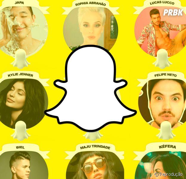 Os famosos também já abriram o jogo no Snapchat!