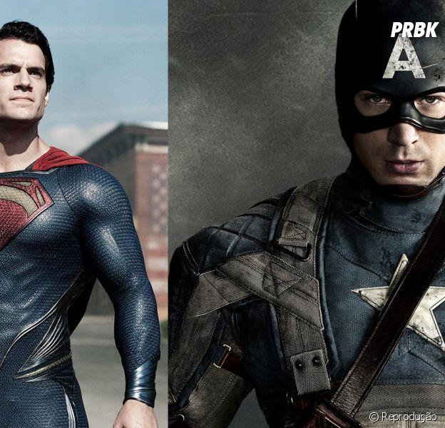 """""""Batman vs Superman"""" e """"Capitão América 3"""" estão agendados para chegar aos cinemas dia 6 de maio de 2016"""