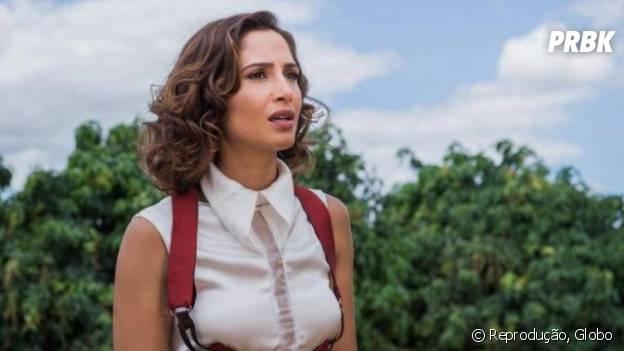 """Novela """"Velho Chico"""": Tereza (Camila Queiroz) descobre que Miguel (Gabriel Leone) está se apaixonado por Olívia(Giullia Buscacio)"""