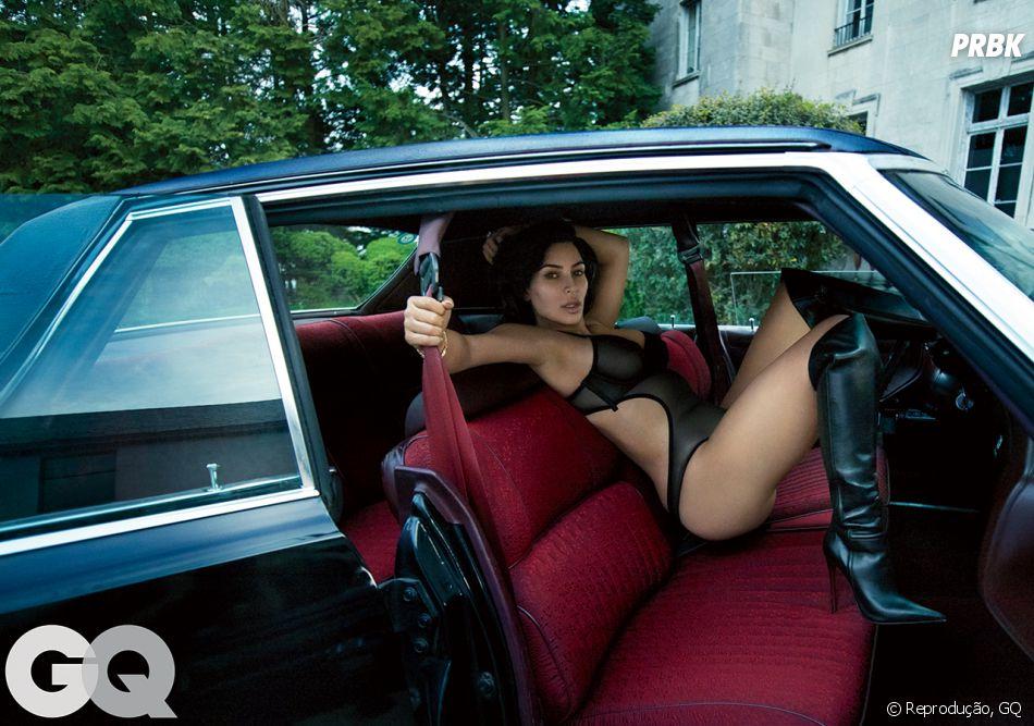 Revista GQ eKim Kardashian se unem para uma sessão de fotos de tirar o fôlego