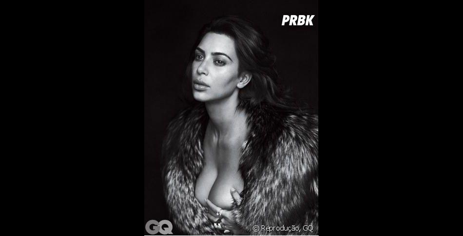 Kim Kardashian é fotografada para a revista GQ