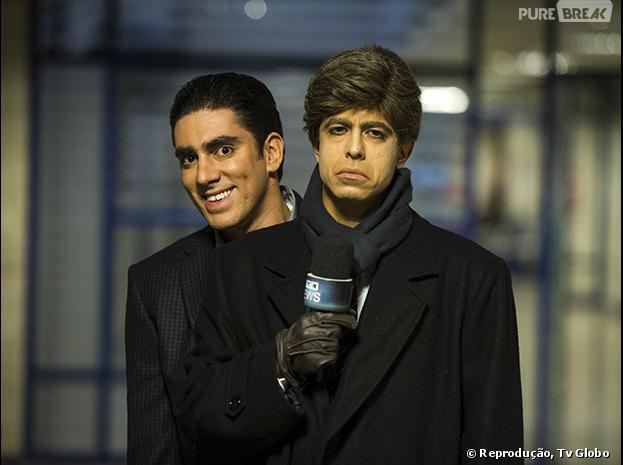 """Marcelo Adnet e Marcius Melhem gravam o programa """"Tá no ar: a TV na TV"""", da Globo"""