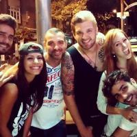 """Ex-participantes do """"BBB14"""" curtem noitada juntos no Rio de Janeiro"""