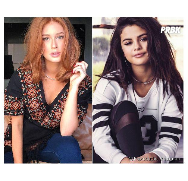Marina Ruy Barbosa dá boas vindas a Selena Gomez em campanha e revela vontade de conhecer a cantora