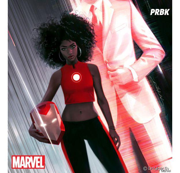 Riri Williams vai substitir Tony Stark como Homem de Ferro. Poderosa essa garota!