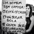 Cartaz que tem feito sucesso na campanha #NãoMereçoSerestuprada, comaprando condições de homens e mulheres