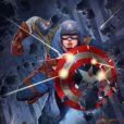 O Capitão América é interpretado por Chris Evans nos filmes da Marvel