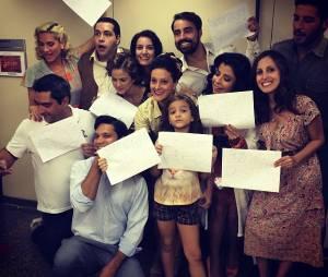"""Mel Maia e elenco de """"Joia Rara"""" no Instagram"""