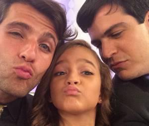 Mel Maia, Bruno Gagliasso e Mateus Solano! Bem acompanhada no Instagram