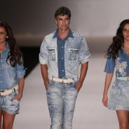"Reynaldo Gianecchini ""apalpa"" Giovanna Antonelli e Tainá Müller no Fashion Rio"