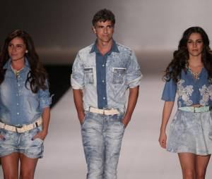Reynaldo Gianecchini, Giovanna Antonelli e Tainá Müller arrasam no desfile da TNG no Fashion Rio, na noite desta quinta-feira, 10 de abril d 2014