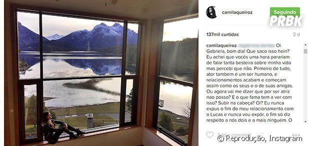 Camila Queiroz responde comentário malicioso em foto no Instagram