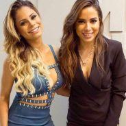 """Anitta e Lexa posam juntas e cantora brinca sobre rixa: """"Tá tentando roubar meu lugar!"""""""