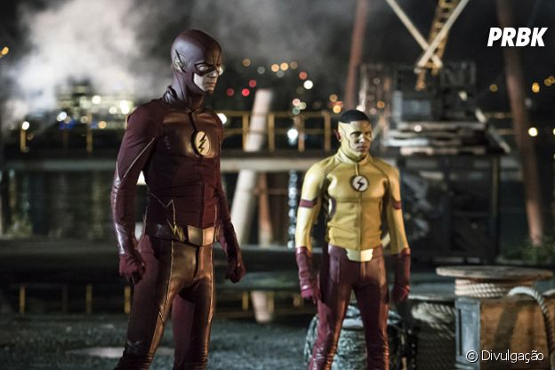 "Em ""The Flash"" Barry (Grant Gustin) e Kid Flash unem forças!"