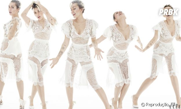 Miley Cyrus posa para a nova edição da revista Elle
