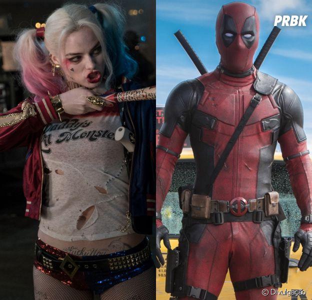 """A Arlequina (Margot Robbie), de """"Esquadrão Suicida"""", é tão doidinha quanto o Deadpool (Ryan Reynolds). Só isso já é motivo o suficiente para os dois combinarem!"""