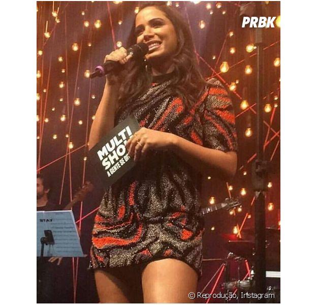 """Anitta é substituída no """"Música Boa Ao Vivo"""" para cuidar de cisto nas cordas vocais"""
