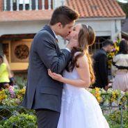 """Final """"Cúmplices de Um Resgate"""": Manuela (Larissa Manoela) e Joaquim dão 1º beijo apaixonado!"""