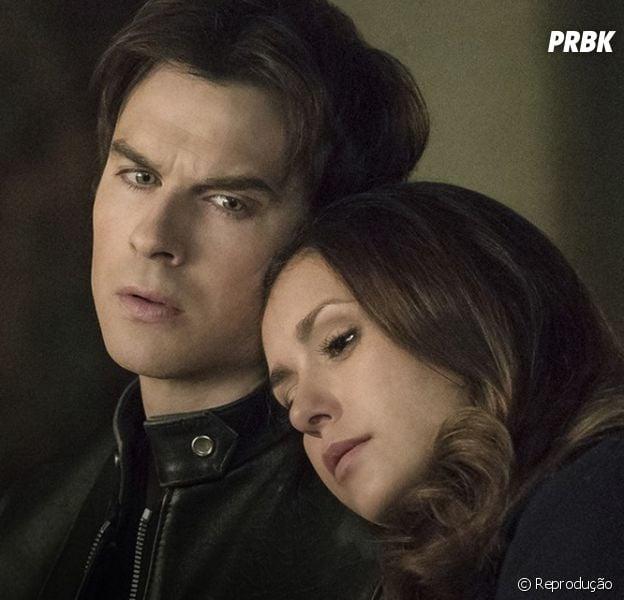 """Em """"The Vampire Diaries"""": na 8ª temporada, Ian Somerhalder confessa que não quer ver Damon e Elena (Nina Dobrev) juntos"""