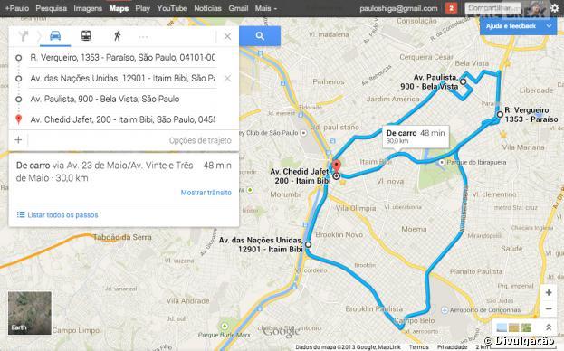 Múltiplos Destinos é novidade no Maps para iOS