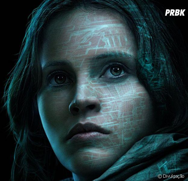 """Felicity Jones interpreta Jyn Erso em """"Rogue One - Uma História Star Wars"""""""