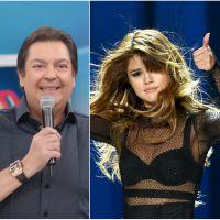 Faustão manda beijo para Selena Gomez e vira Trending Topic no Twitter!