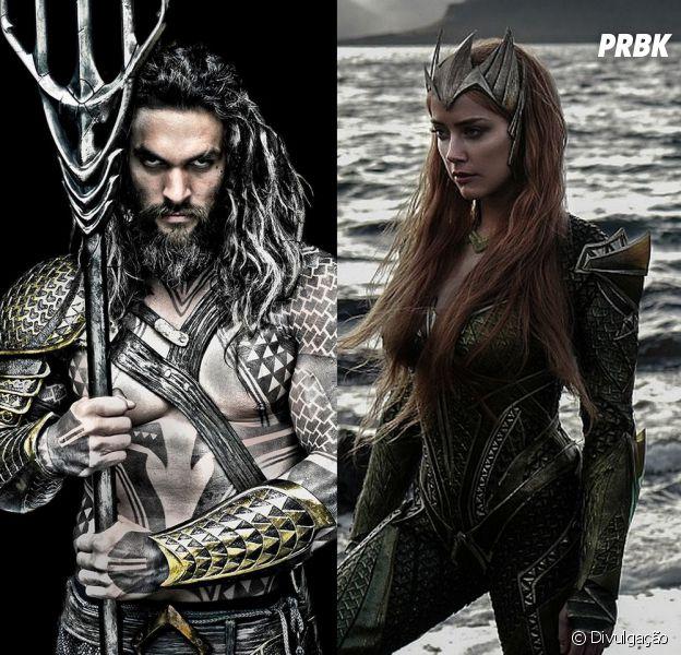 Diretamente dos quadrinhos para o cinema, Aquaman (Jason Momoa) e Mera (Amber Heard) são o mais novo casal das telonas!