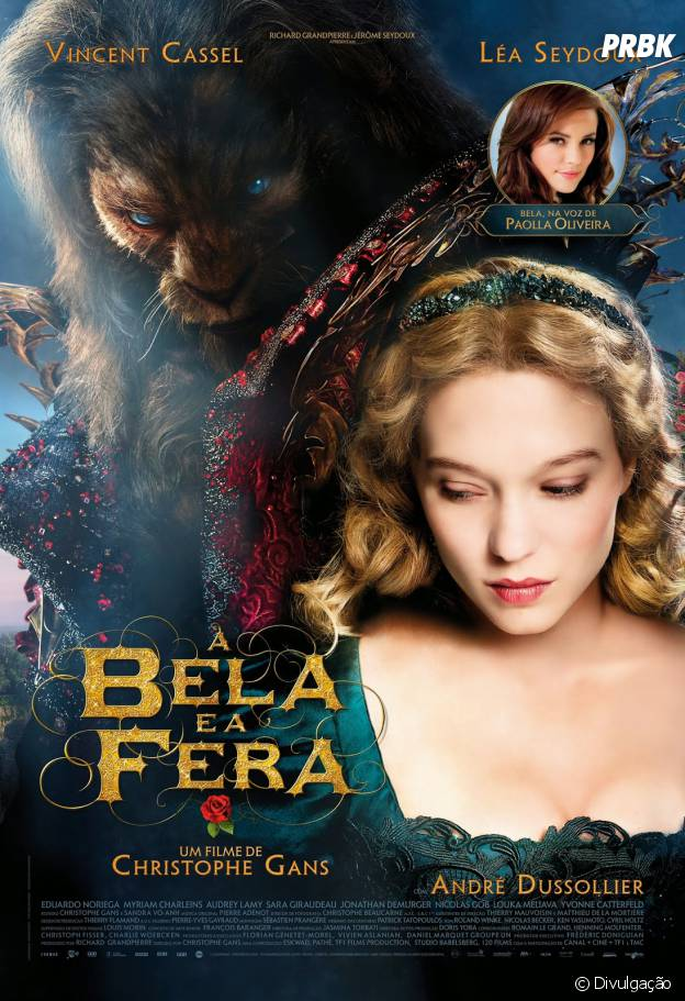 "Cartaz brasileiro de ""A Bela e a Fera"", que estreia dia 2 de outubro"
