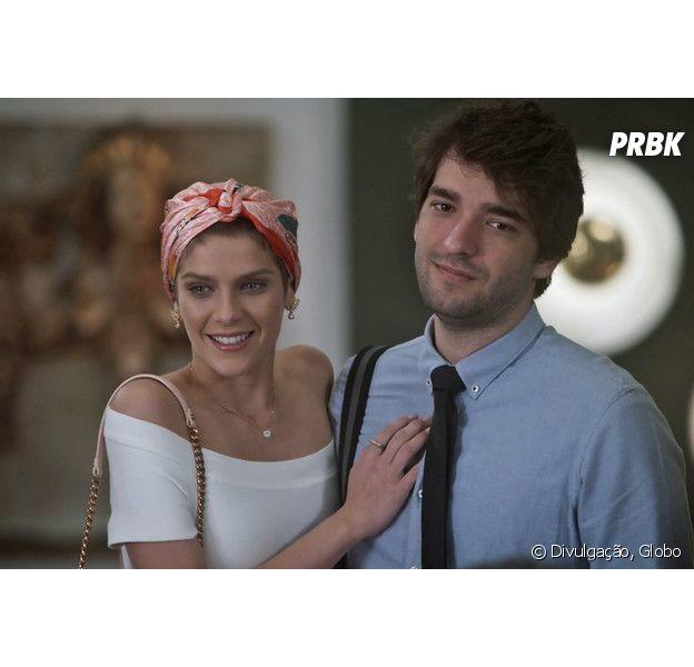 """Em """"A Lei do Amor"""", Letícia (Isabella Santoni) descobre que Tiago (Humberto Carrão) está com Isabela (Alice Wegmann)!"""