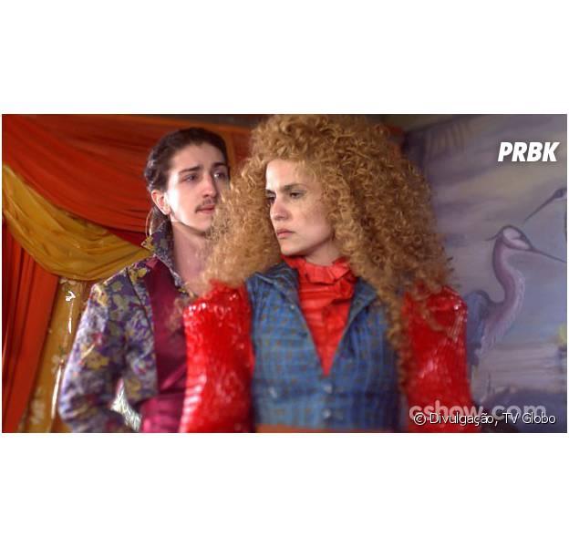 """Como Nando (Johnny Massaro) deve beijar Gina (Paula Barbosa) em """"Meu Pedacinho de Chão""""?"""
