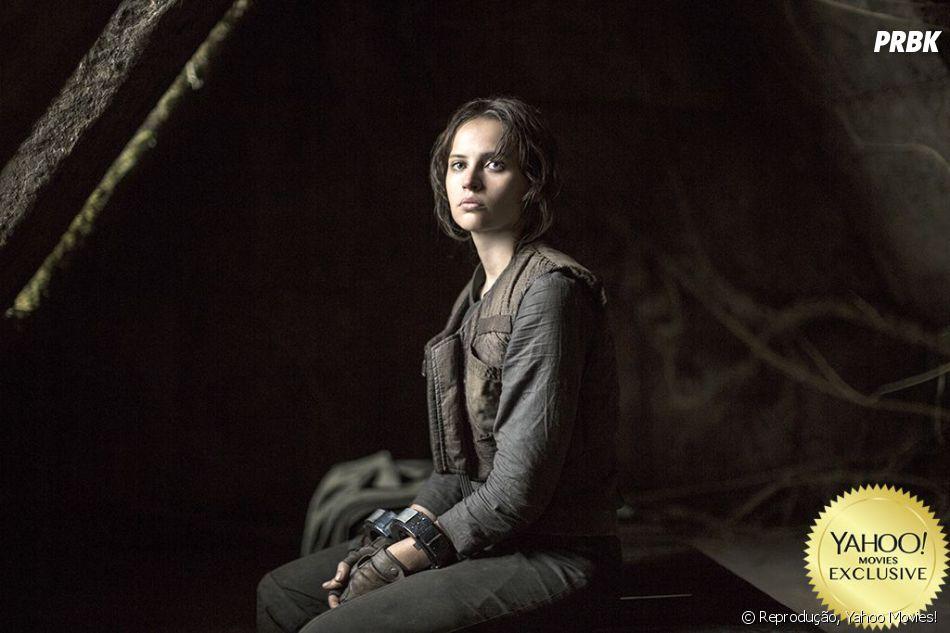 """Felicity Jones interpreta a mocinha Jyn Erso, em """"Rogue One - Uma História Star Wars"""""""