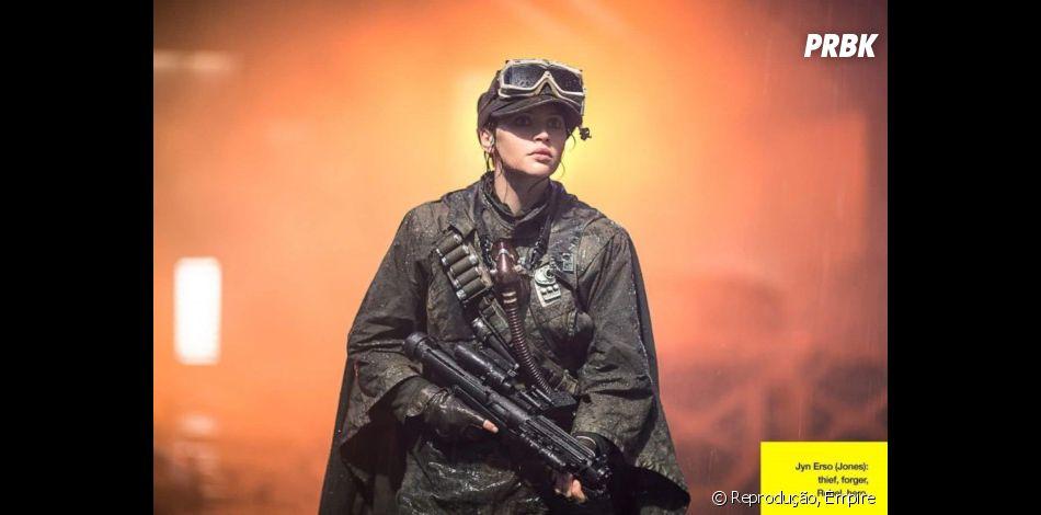 """A protagonista Jyn Erso (Felicity Jones) promete arrasar em""""Rogue One - Uma História Star Wars"""""""
