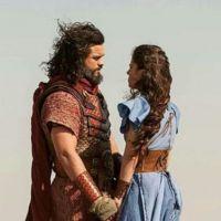 """Novela """"A Terra Prometida"""": Aruna (Thais Melchior) e Josué fazem planos e Samara tenta separá-los!"""