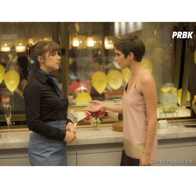 """Em """"A Lei do Amor"""": Isabela (Alice Wegmann) é flagrada por Letícia (Isabella Santoni) após atentado!"""
